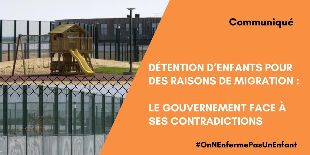 Communiqué de presse 27 mai 2021 – Détention d'enfants pour des raisons de migration : le gouvernement face à ses contradictions